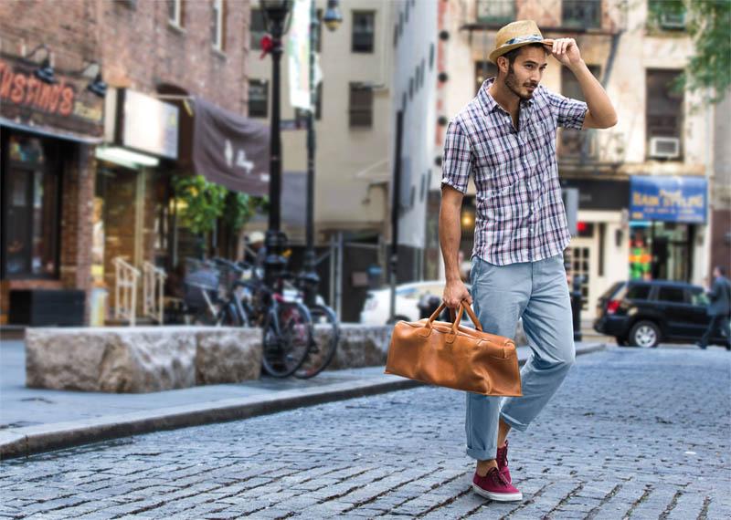 karo hemd und jeans beim man