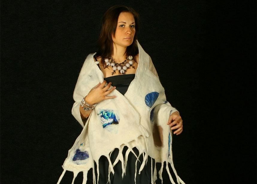 Poncho-Kleid