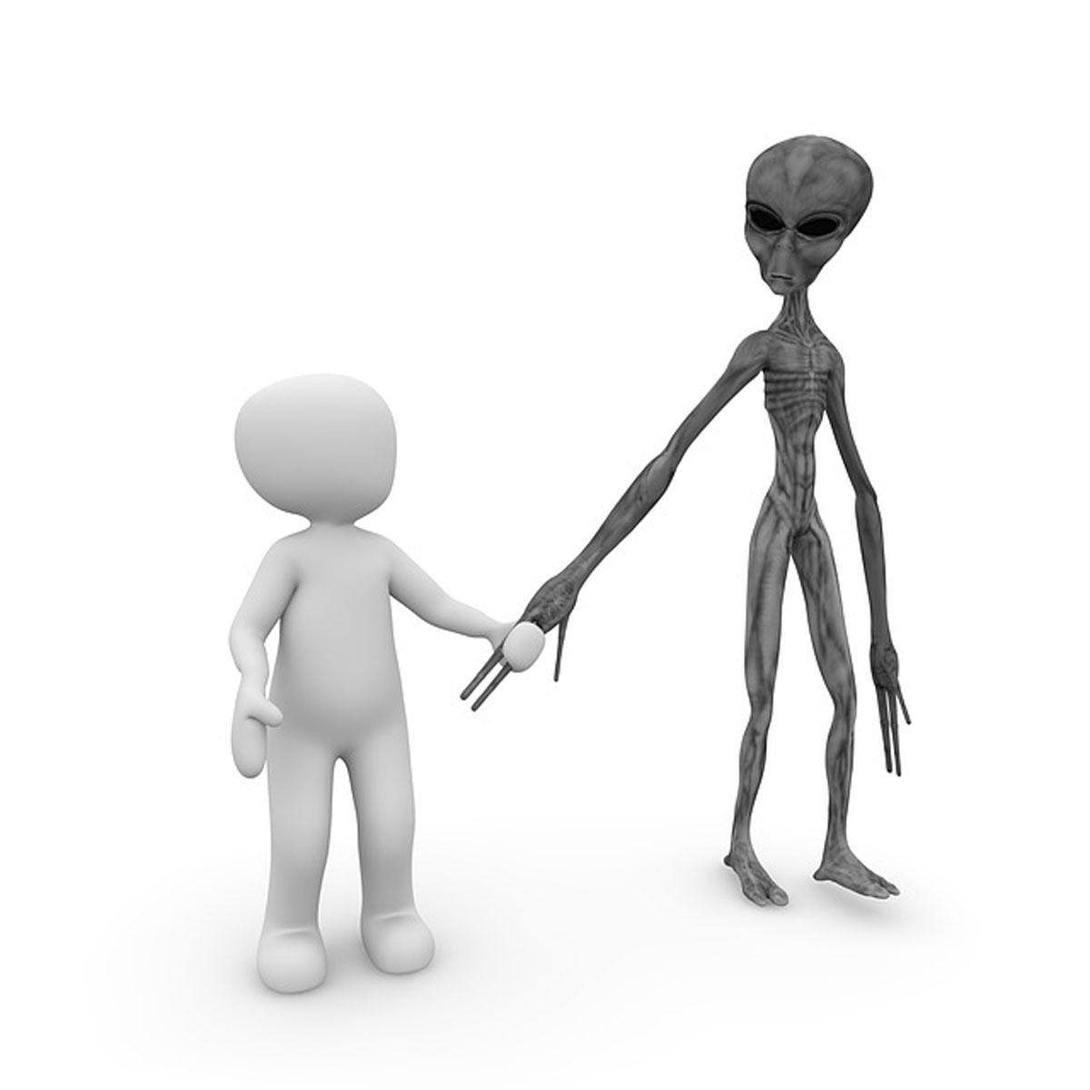 Alien Mensch Außerirdische