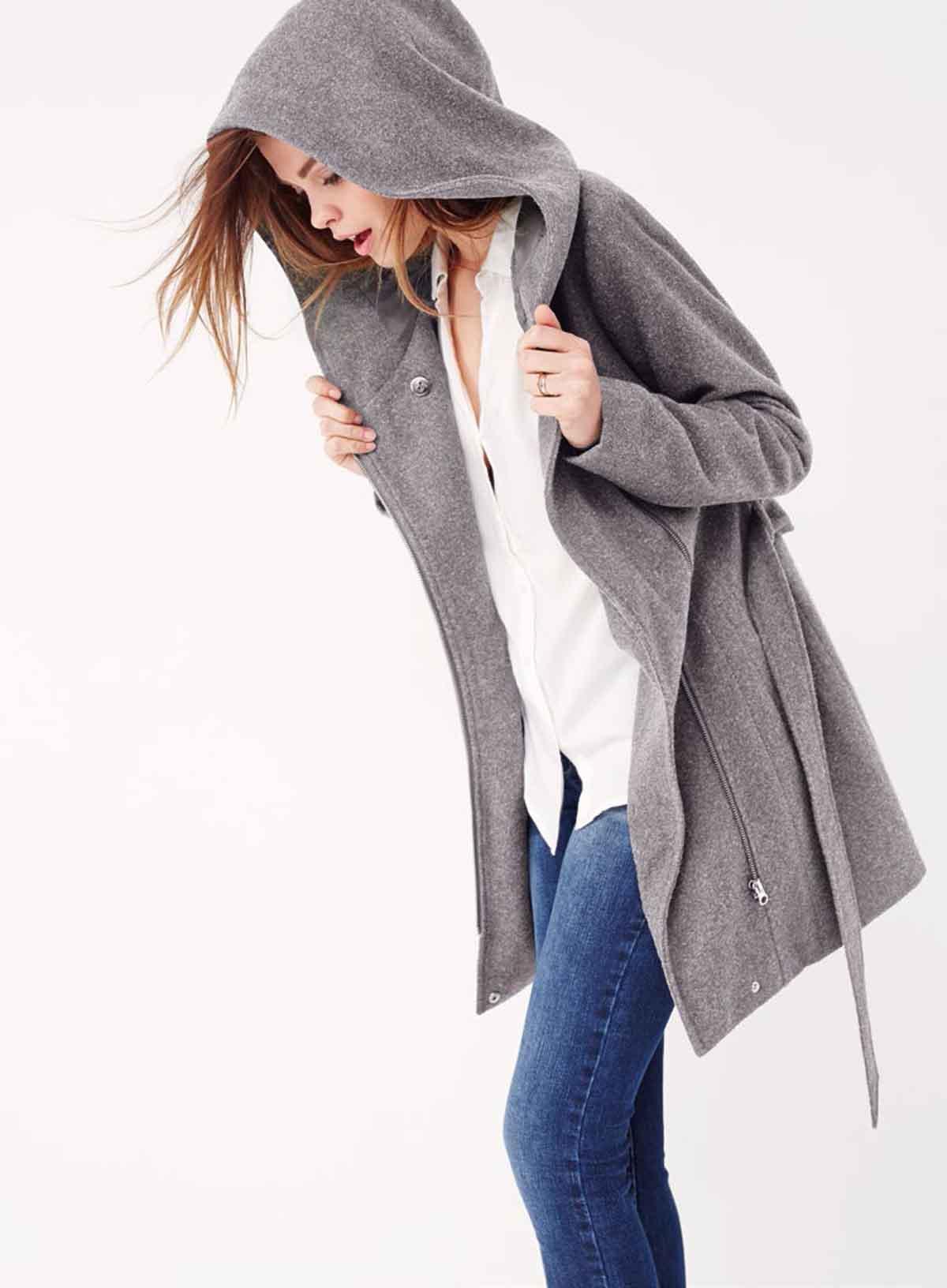Mantel Bluse Jeans