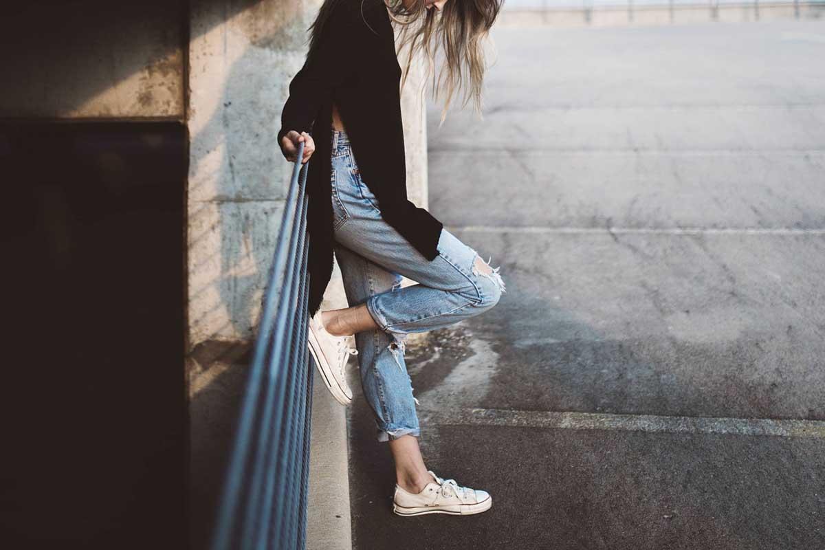 Used Jeans Frau