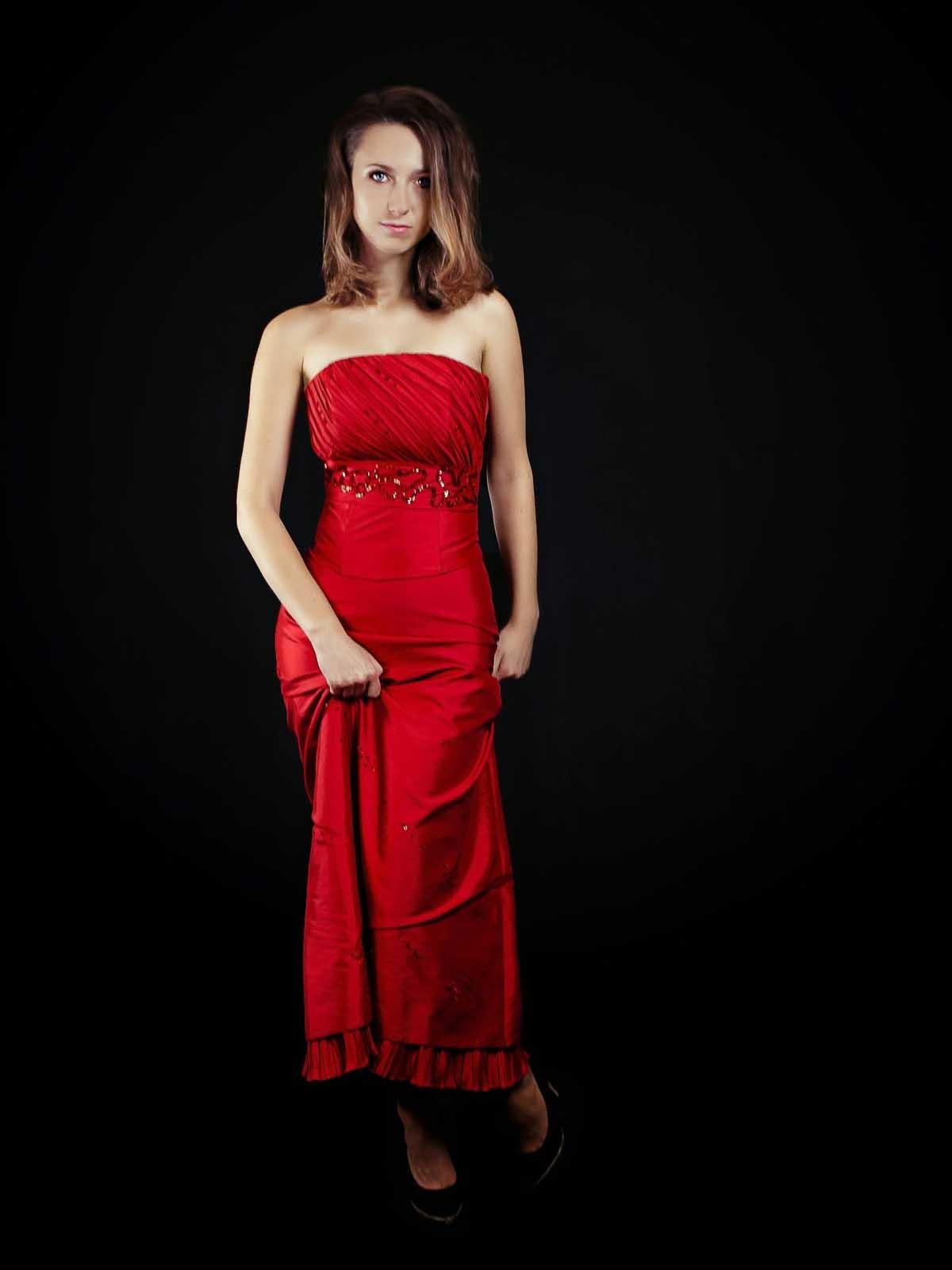 Rot Cocktailkleid Kleid