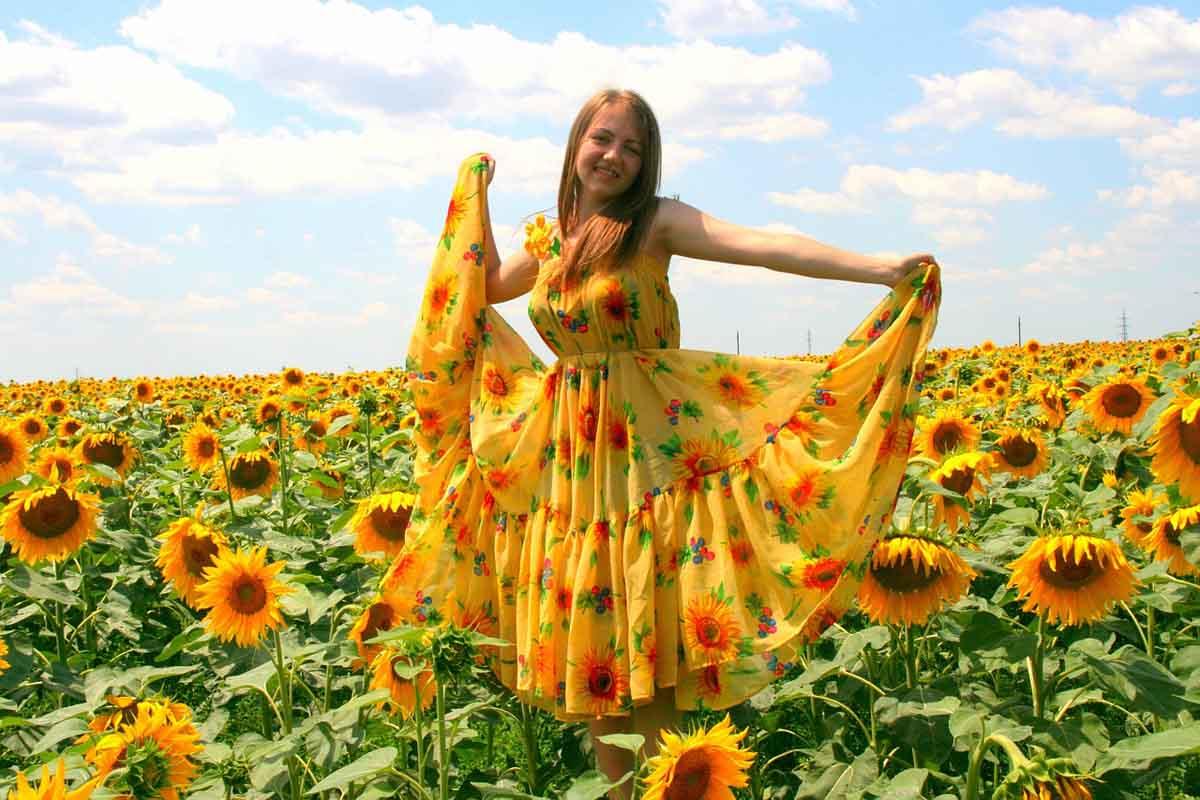 Kleid Sonnenblumen Natur