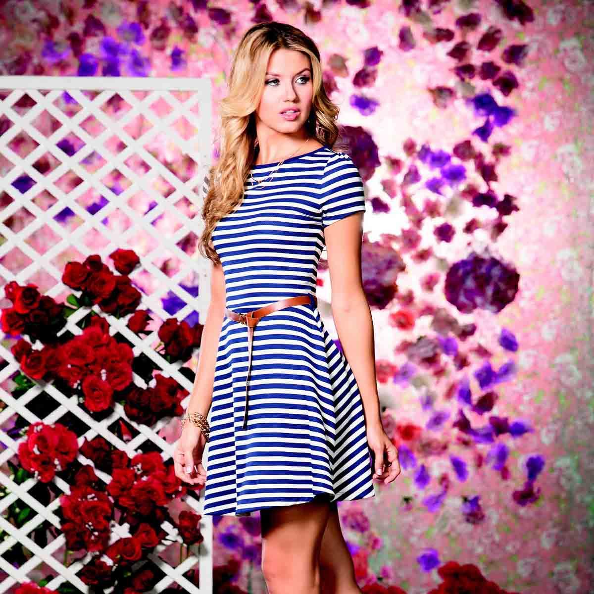 Streifen Kleid Highheels