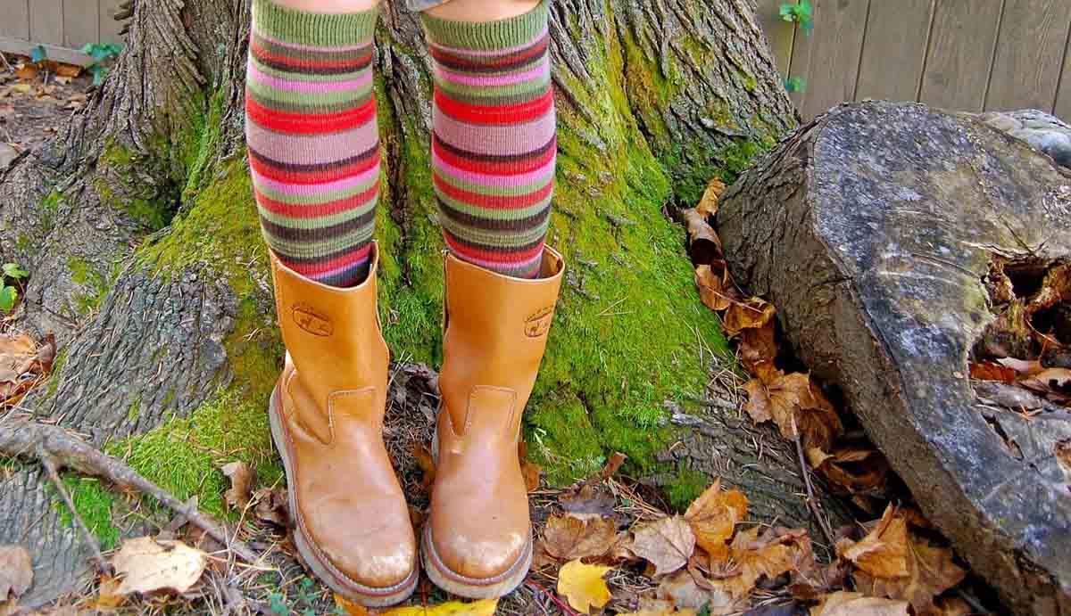 Streifen Socken Boots