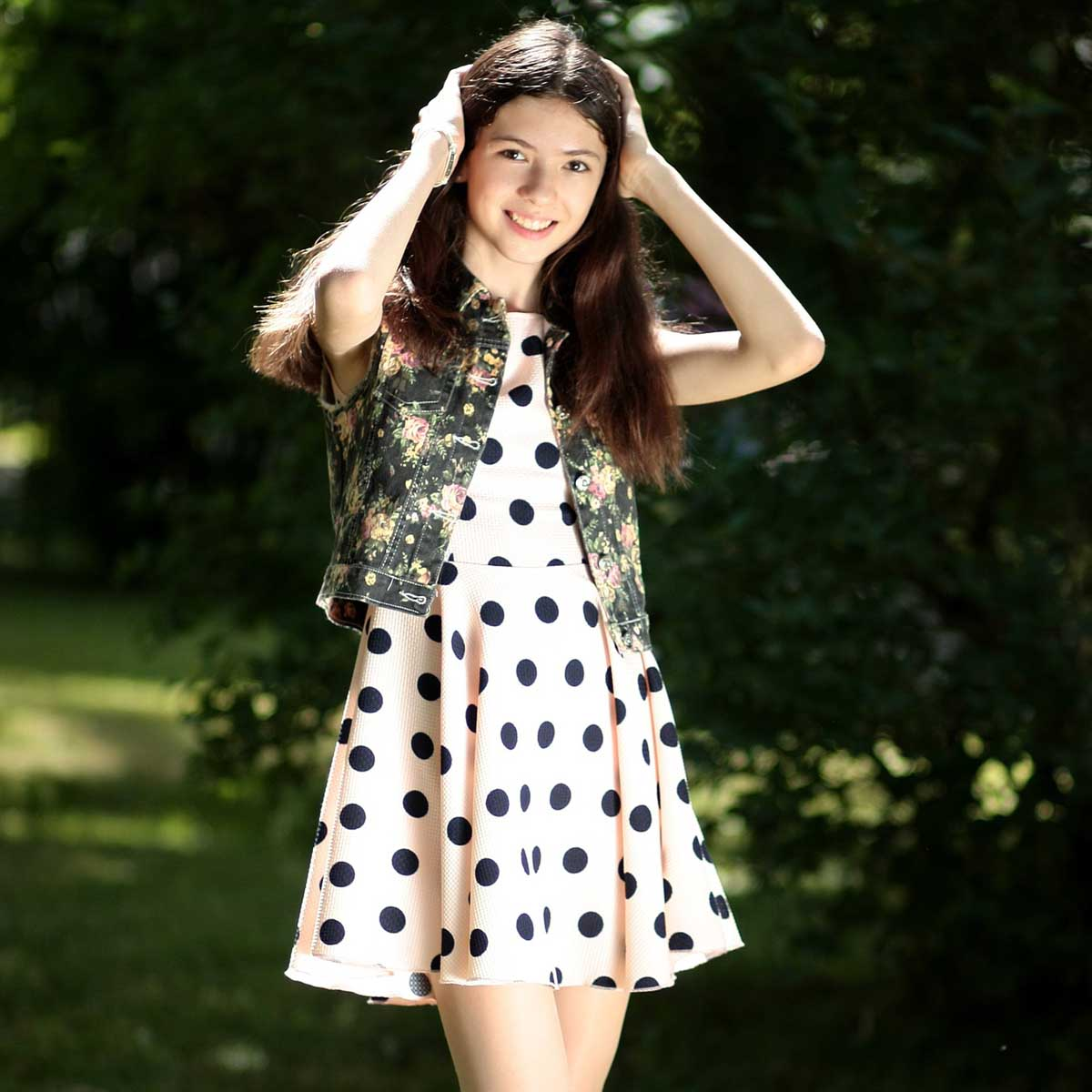 Punkte Kleid Sommerkleid