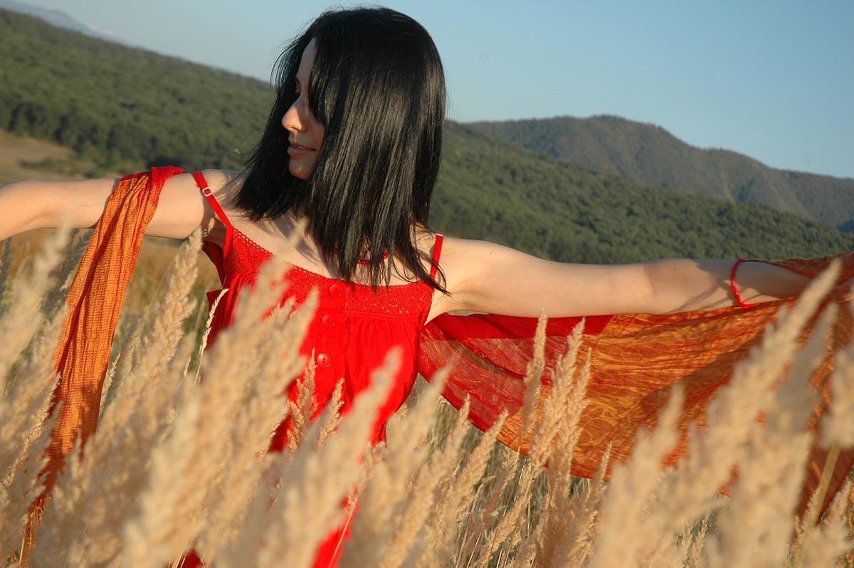 Sommerkleid rotes Kleid