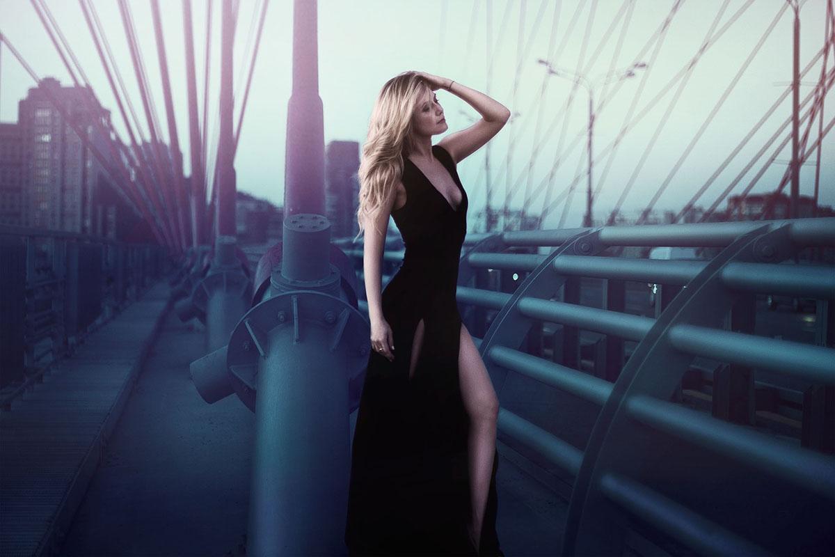 schwarzes Kleid Gothicstyle