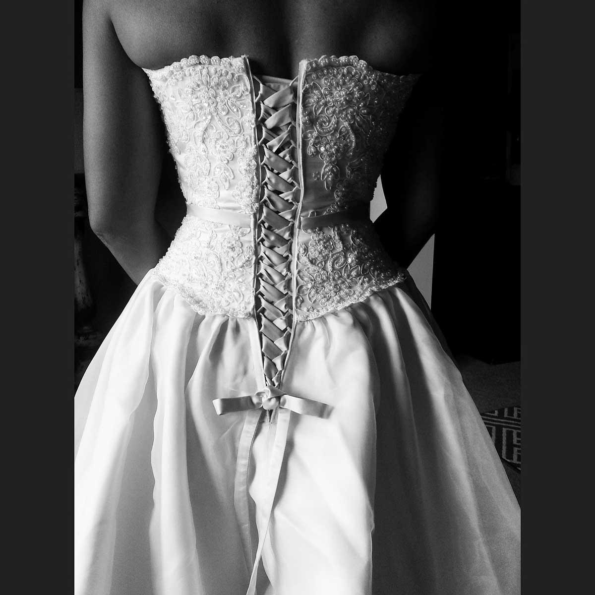 Hochzeitskleid Schleife Schnürung