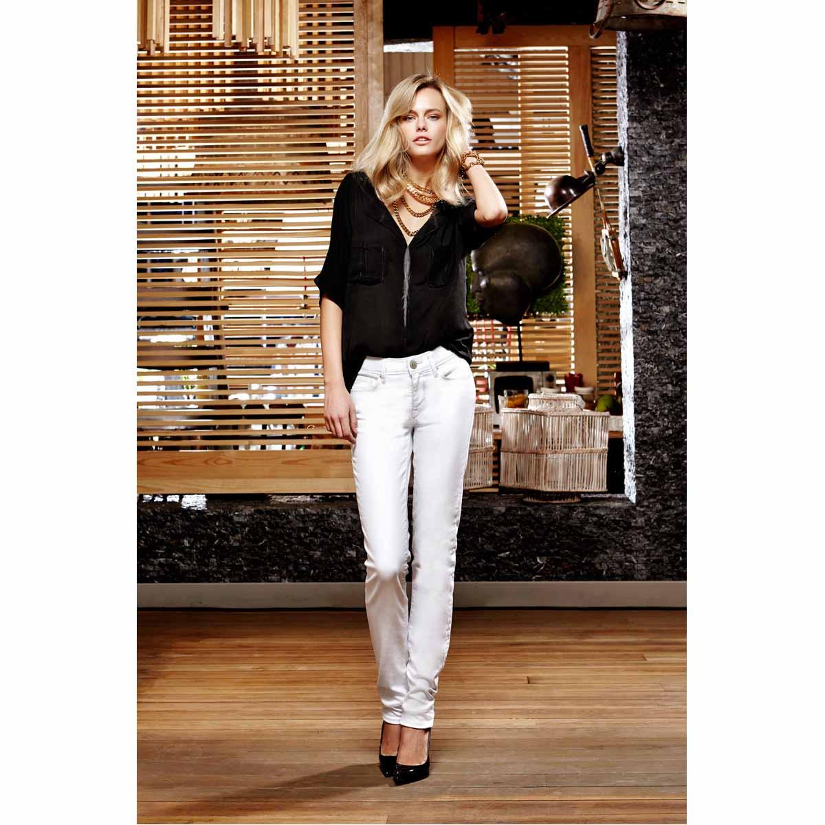 Weiße Jeans Jeanshose