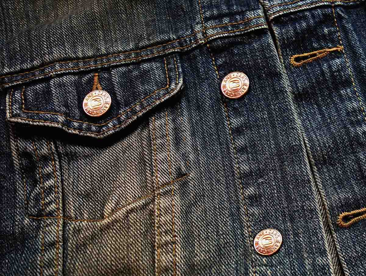 Jeans Jeansjacke Knöpfe