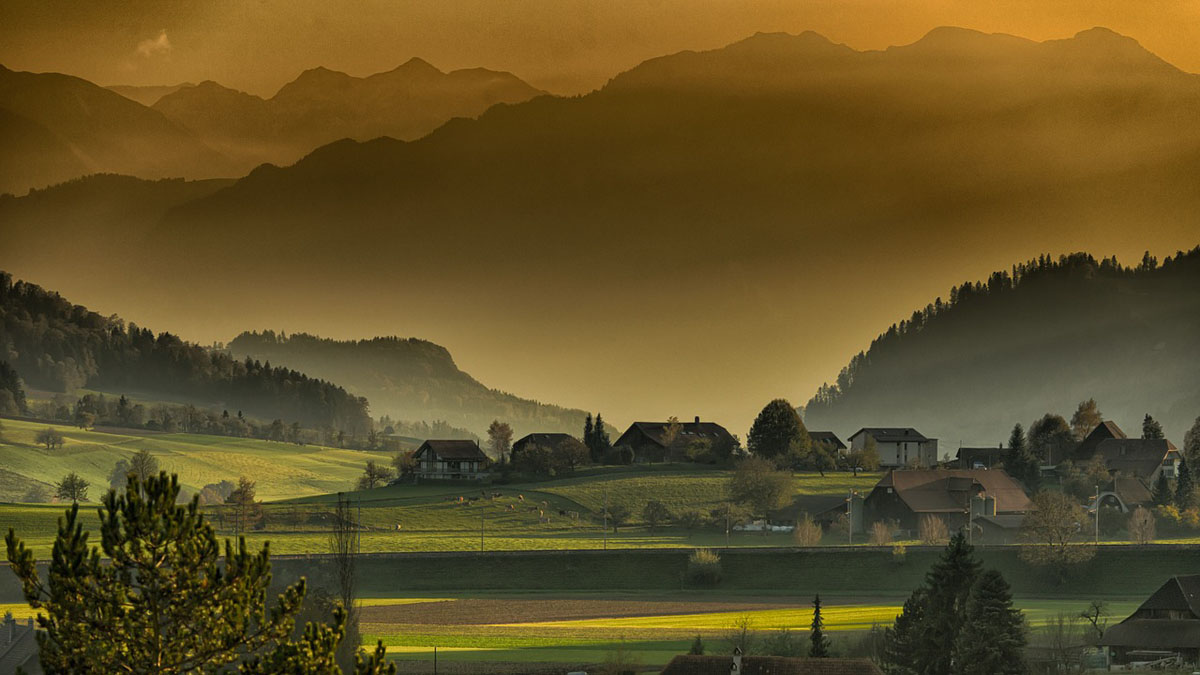 Herbst Landschaft Berge