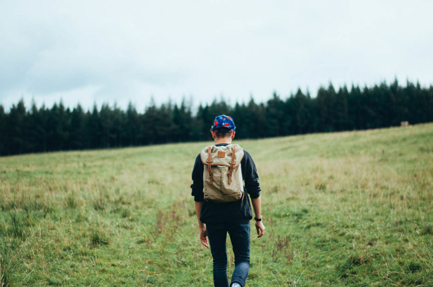 Wandern Rucksack Jeanshose