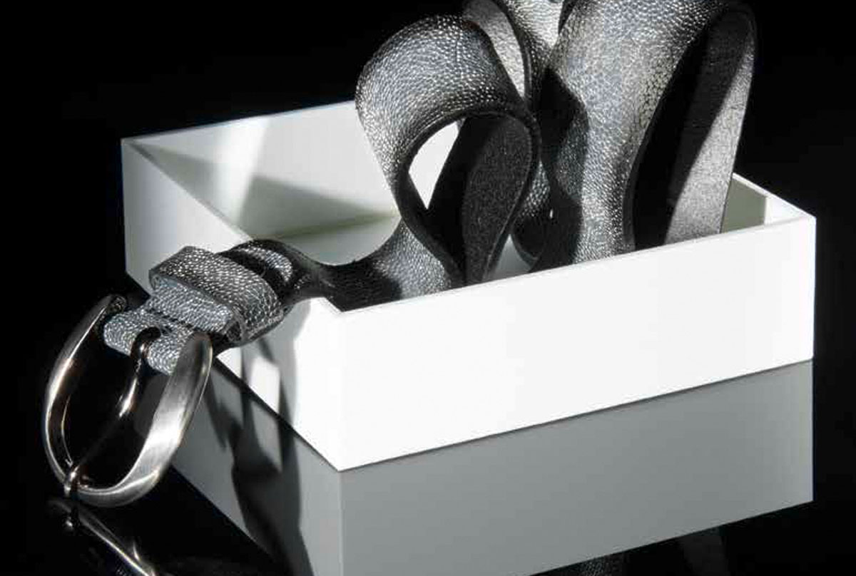 Gürtel Grau Silbergift