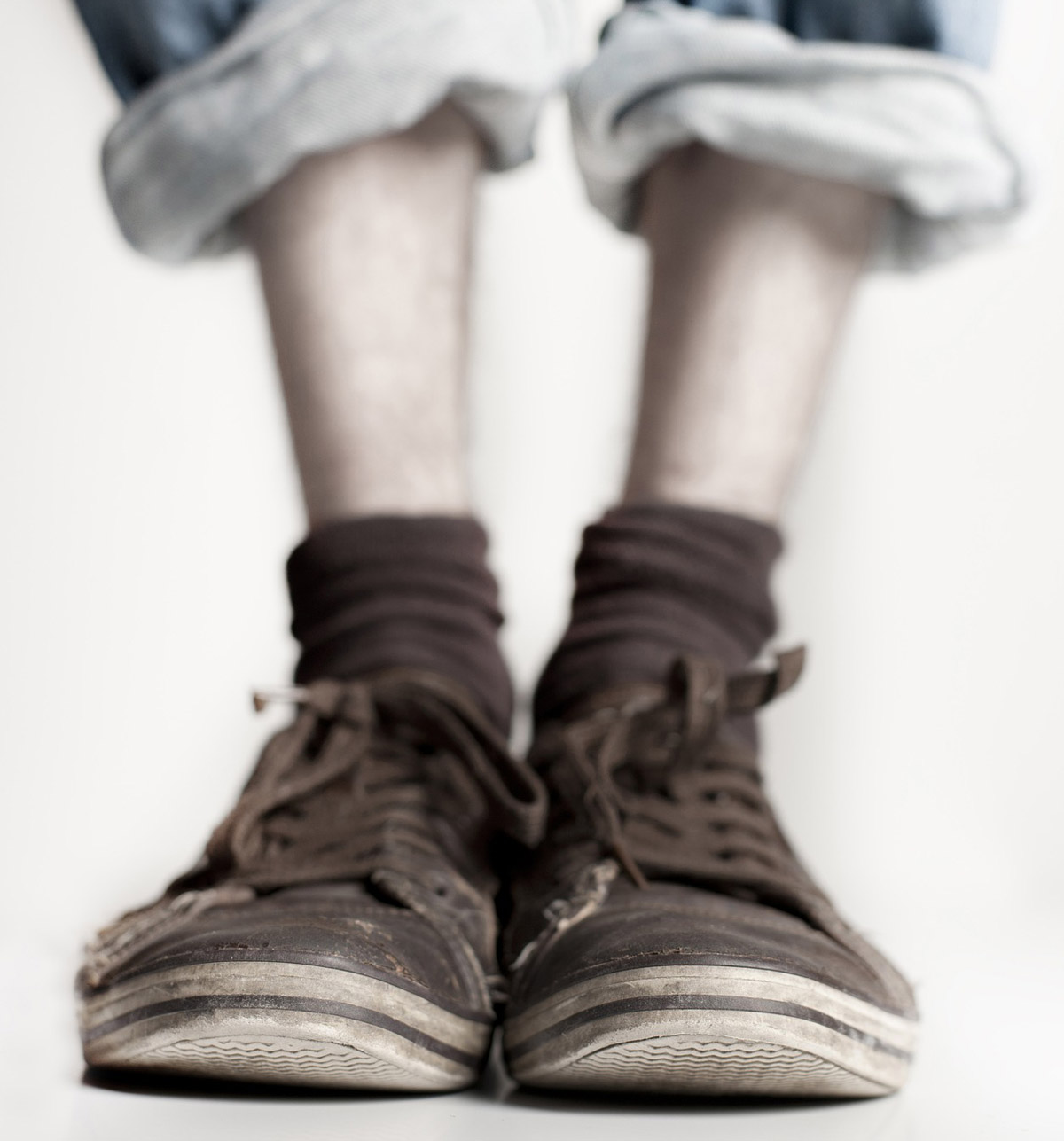 Schuhe Slumping Look