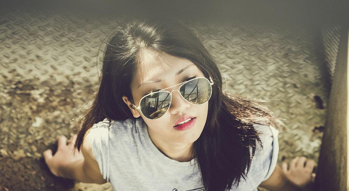 Sonnenbrille Sommerlook Streetstyle