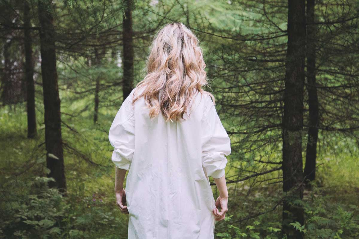 Frau Blond Wald