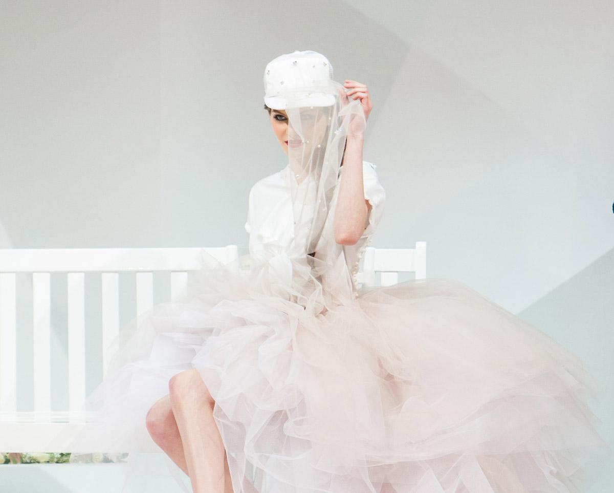 Modenschau Kleid Brautkleid