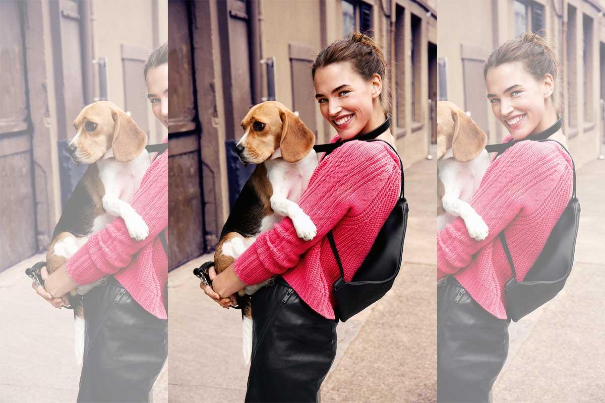 Pullover Pink Lederrock