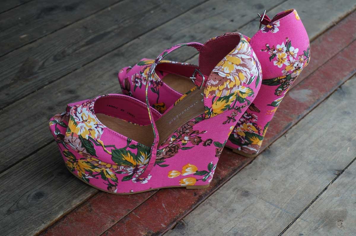 Schuhe Blumen Rosa
