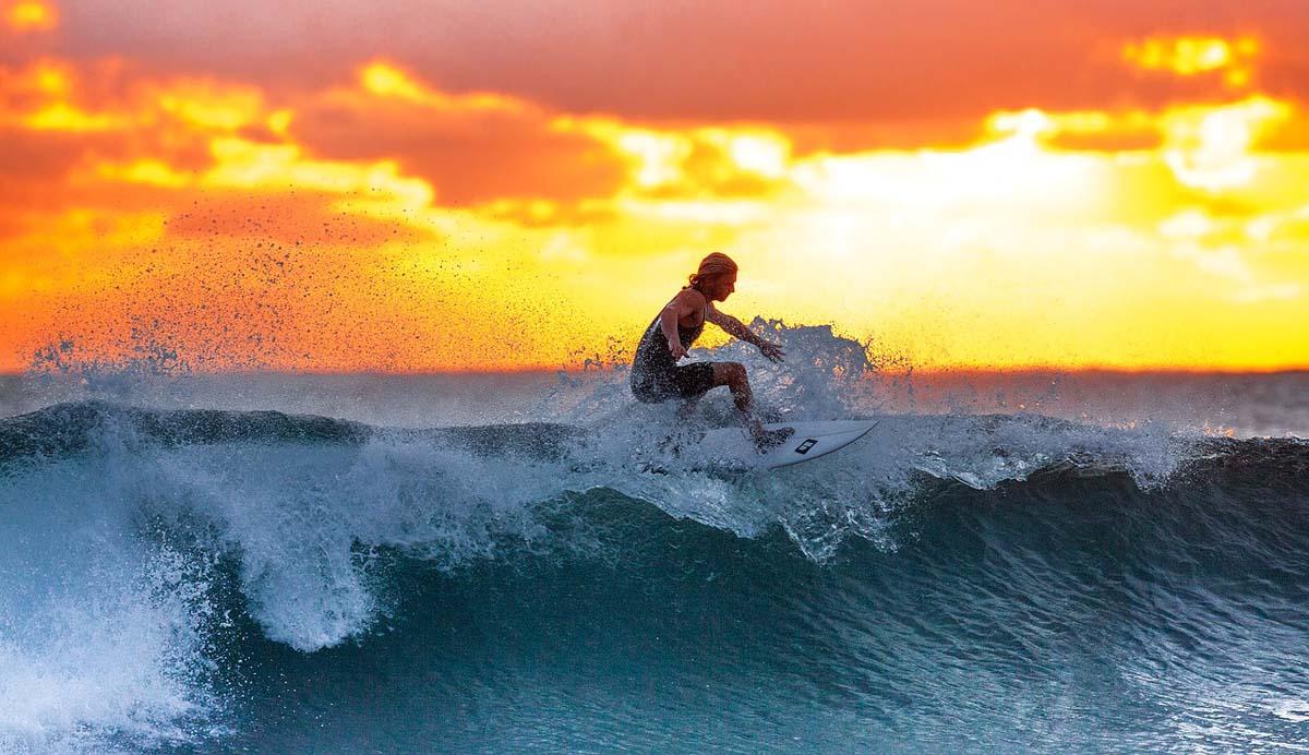 Surfer Surfen Welle