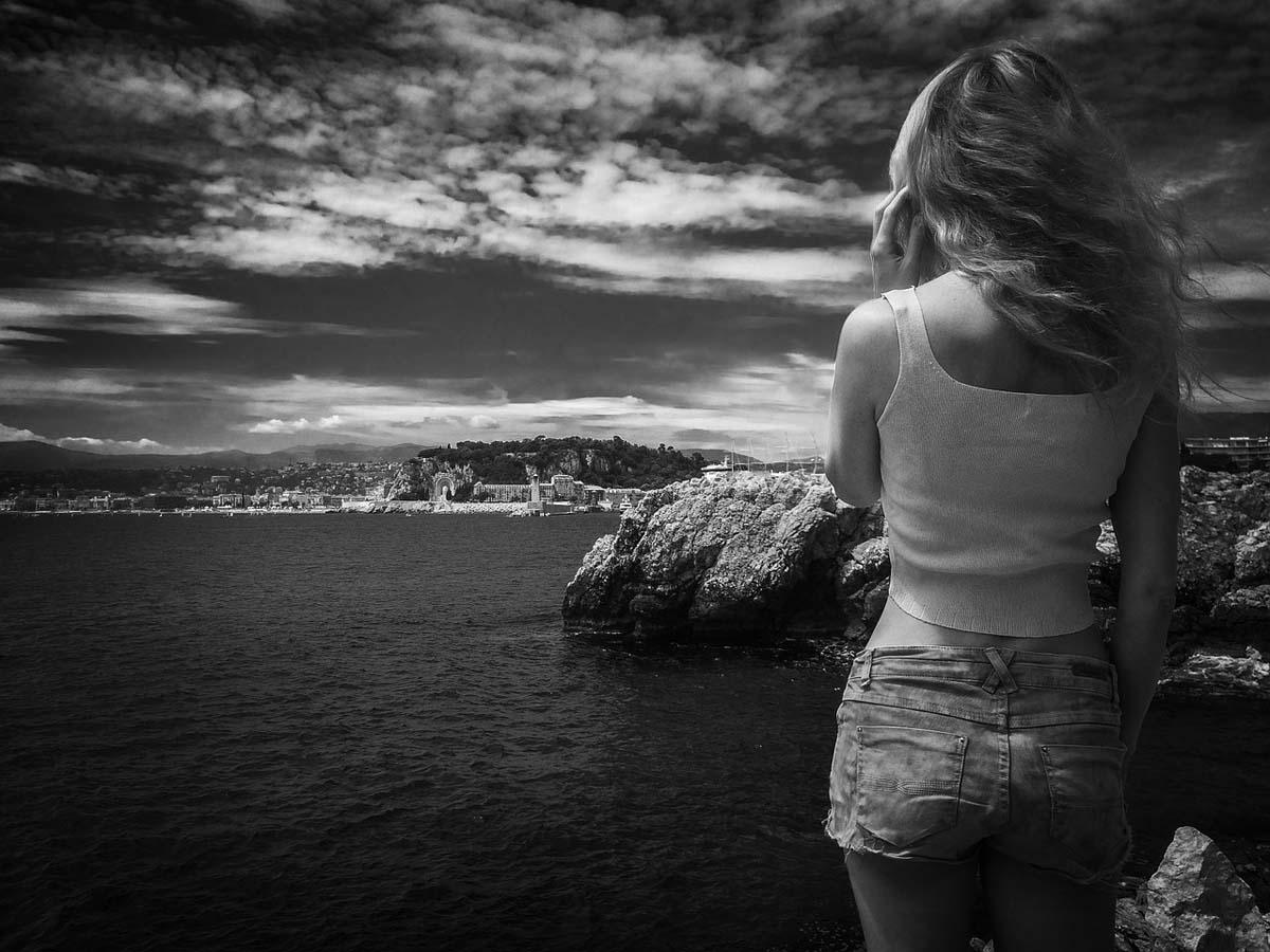 Jeansshorts Urlaub Bucht