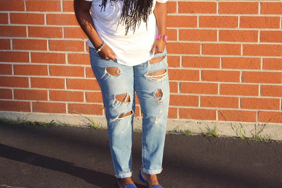 Destroyed Jeans Cropped