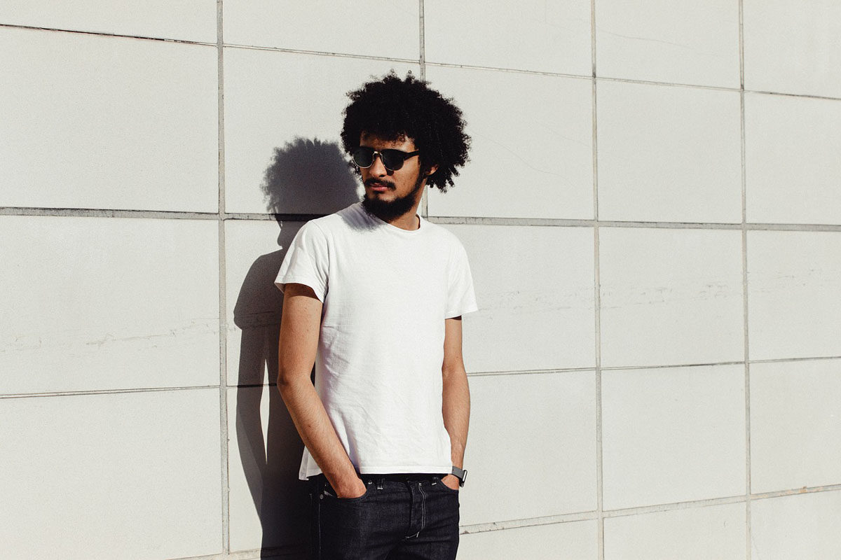Shirt Herrenjeans Sonnenbrille