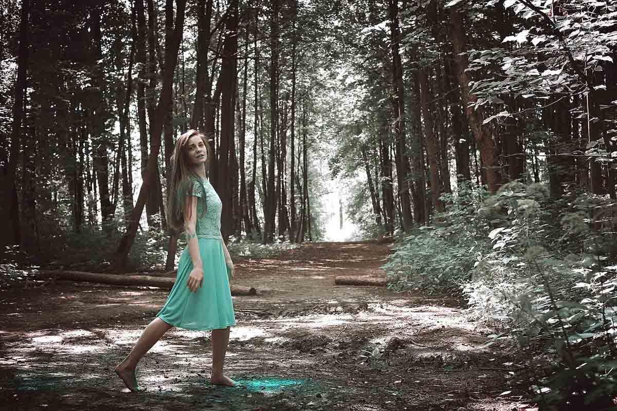 Sommerkleid Wald Spitze