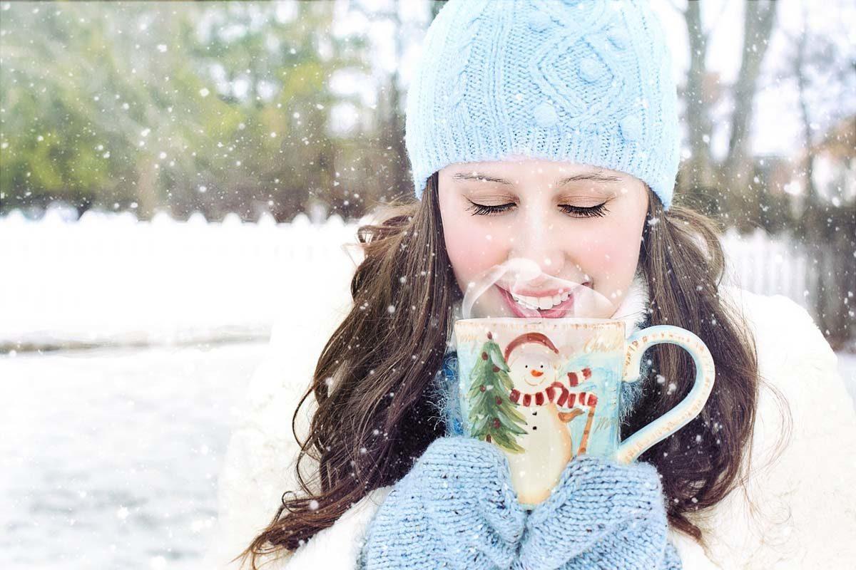 Mütze Schnee Tasse