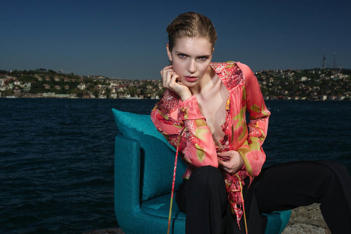 Batik Bluse Hose