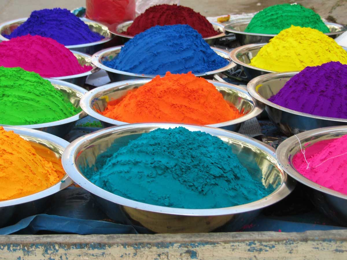Farbe Farbpulver Indien