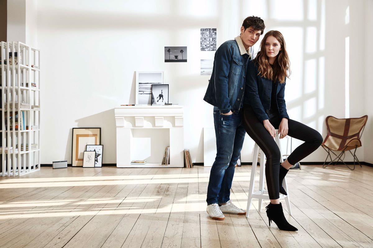 Jeansjacke Jeanshose Paar