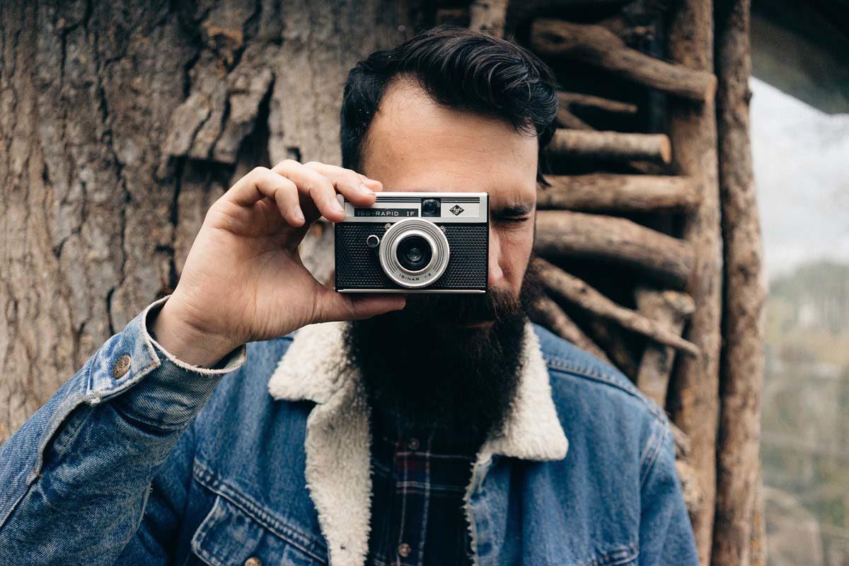 Jeansjacke Kamera Mann