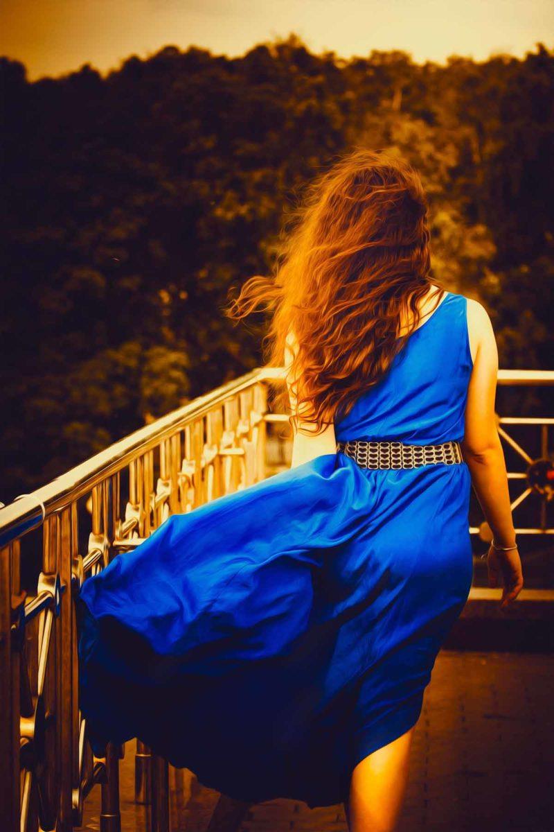 Kleid Blau Frau