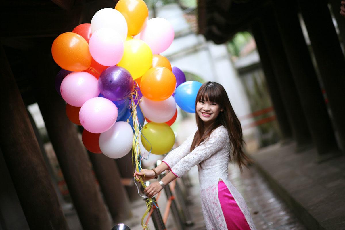 Luftballons Asia Look