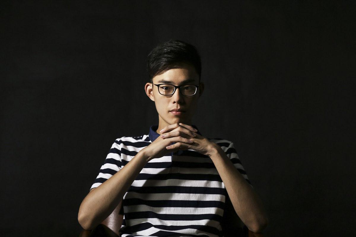 Streifenshirt Brille Männerlook