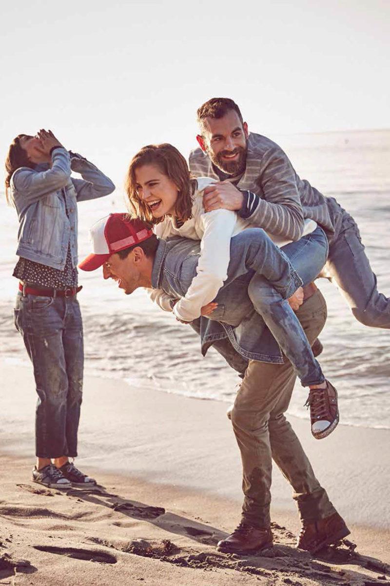 huckepack jeansjacke jeanshose pullover